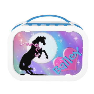Heart Horses V (Colorful Haze) Lunch Box