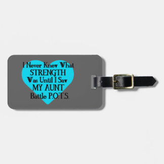 Heart/I Never Knew...Aunt...P.O.T.S. Luggage Tag