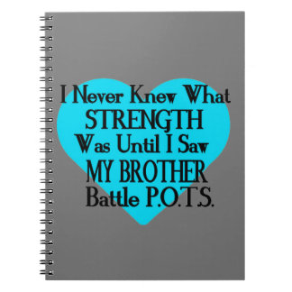 Heart/I Never Knew...Brother...P.O.T.S. Spiral Notebook