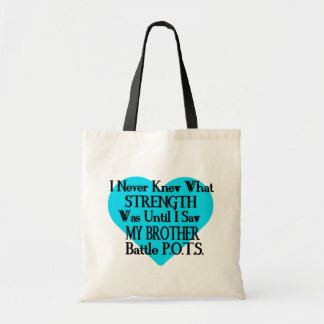 Heart/I Never Knew...Brother...P.O.T.S. Tote Bag