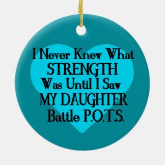 Heart/I Never Knew...Daughter...P.O.T.S. Ceramic Ornament