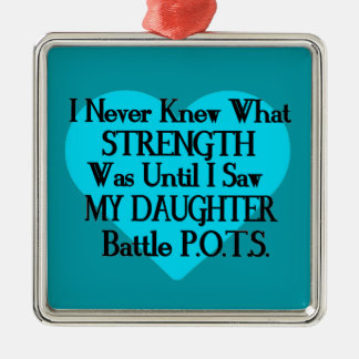 Heart/I Never Knew...Daughter...P.O.T.S. Metal Ornament