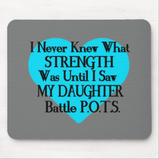 Heart/I Never Knew...Daughter...P.O.T.S. Mouse Pad