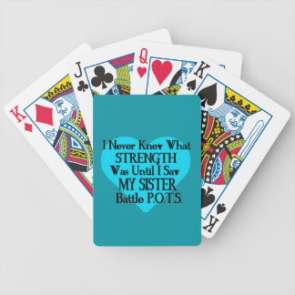 Heart/I Never Knew...Sister...P.O.T.S. Bicycle Playing Cards