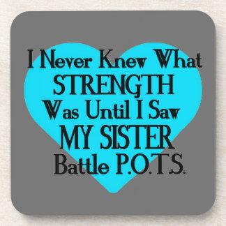 Heart/I Never Knew...Sister...P.O.T.S. Coaster