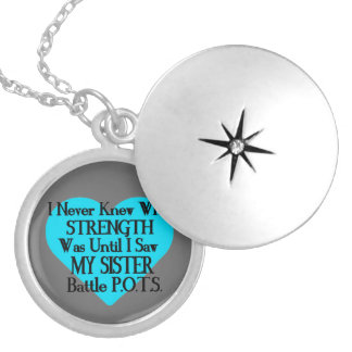 Heart/I Never Knew...Sister...P.O.T.S. Locket Necklace