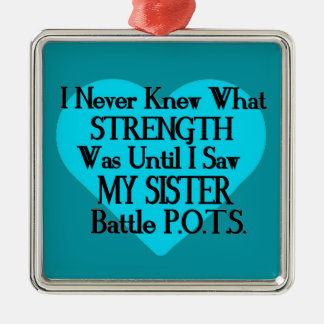 Heart/I Never Knew...Sister...P.O.T.S. Metal Ornament