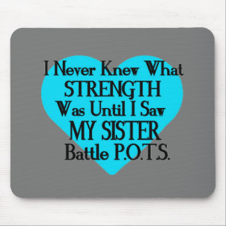 Heart/I Never Knew...Sister...P.O.T.S. Mouse Pad