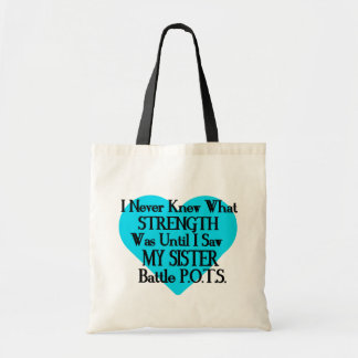 Heart/I Never Knew...Sister...P.O.T.S. Tote Bag