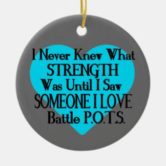 Heart/I Never Knew...Someone I Love...P.O.T.S. Ceramic Ornament