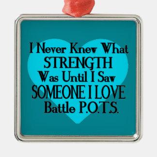 Heart/I Never Knew...Someone I Love...P.O.T.S. Metal Ornament