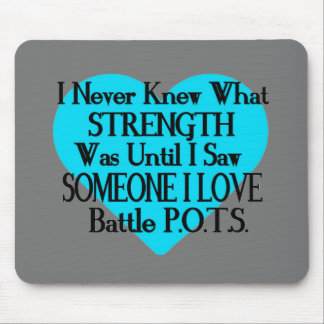 Heart/I Never Knew...Someone I Love...P.O.T.S. Mouse Pad