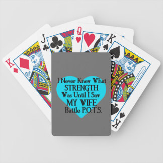 Heart/I Never Knew...Wife...P.O.T.S. Bicycle Playing Cards