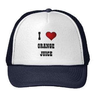 heart, I, ORANGE JUICE Trucker Hats