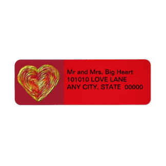 Heart Icing Return Address Label