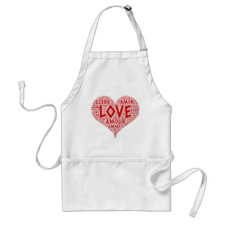 Heart illustrated with Love Word Standard Apron