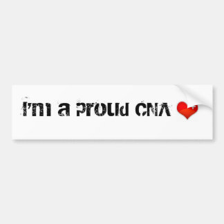 heart, I'm a proud CNA Bumper Sticker
