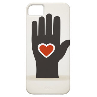 Heart in a hand case for the iPhone 5