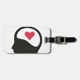Heart in a head luggage tag