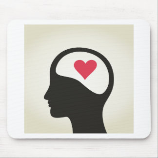 Heart in a head mouse pad