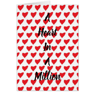 Heart in a Million Valentines Card