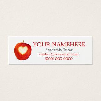 Heart in Apple Skinny Mini Business Card