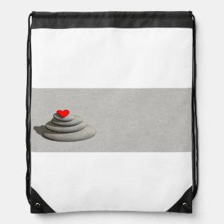 Heart in balance - 3D render Drawstring Bag