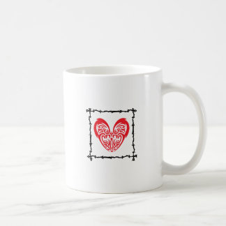 HEART IN BARBED WIRE COFFEE MUG