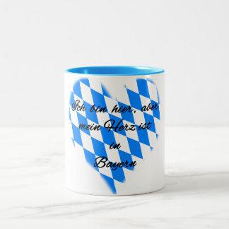 Heart in Bavaria Two-Tone Coffee Mug