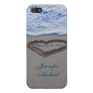 Heart in Beach Sand  Special Date Case For iPhone 5/5S