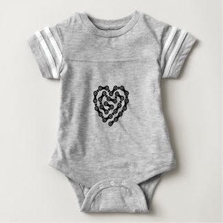 Heart in chains baby bodysuit