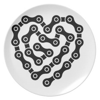 Heart in chains plate