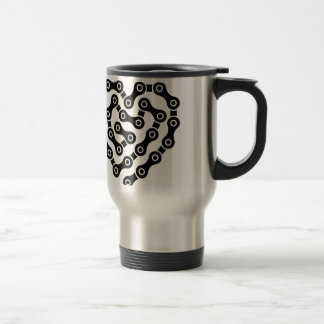 Heart in chains travel mug