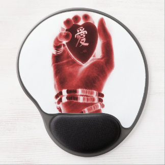 Heart in hand gel mouse pad