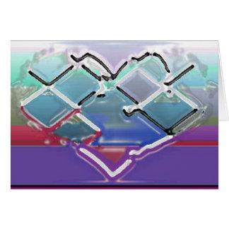 Heart in Liquid Chrome Card