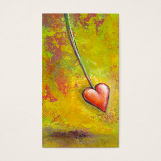 Heart in Motion - fun contemporary painting art Business Card