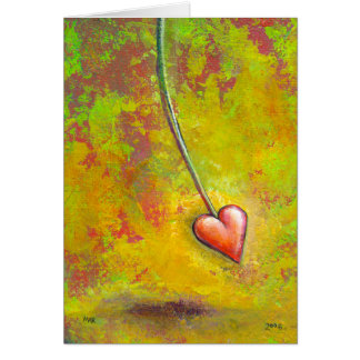 Heart in Motion - fun contemporary painting art Greeting Cards