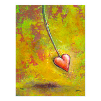 Heart in Motion - fun contemporary painting art Postcard