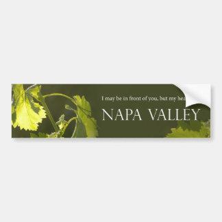 Heart in Napa Valley Bumper Sticker