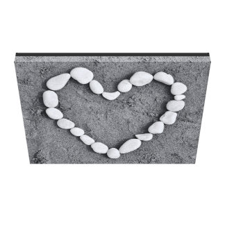 Heart in Pebbles Canvas