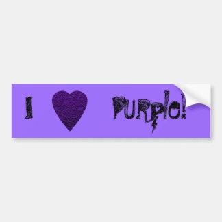 Heart in Purple Colors. Patterned Heart Design. Bumper Sticker