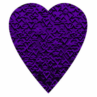 Heart in Purple Colors. Patterned Heart Design. Photo Cut Out