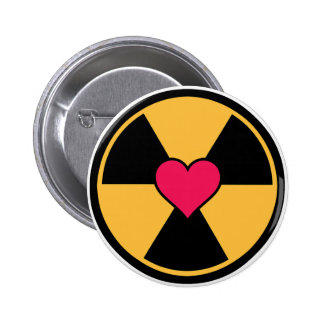 Heart in radiation symbol button