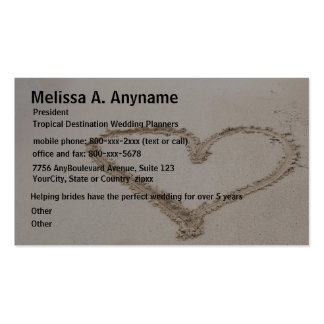 Heart in Sand Bridal Consultant Business Cards