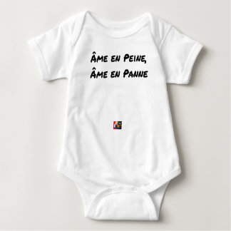 HEART IN SORROW, Broken down HEART - Word games Baby Bodysuit