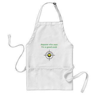 Heart in target standard apron
