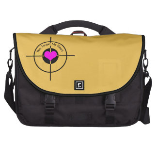 Heart in target laptop messenger bag