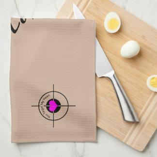 Heart in target tea towels