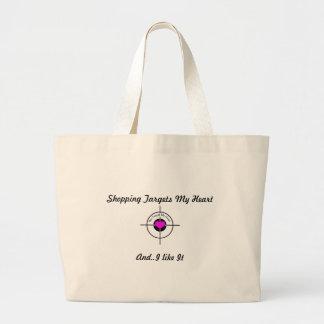 Heart in target jumbo tote bag
