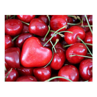 heart in the cherries postcard